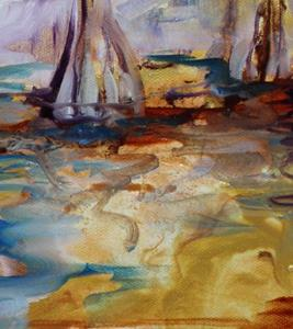 Detail Image for art GOLDEN CYPRESS ABSTRACT II