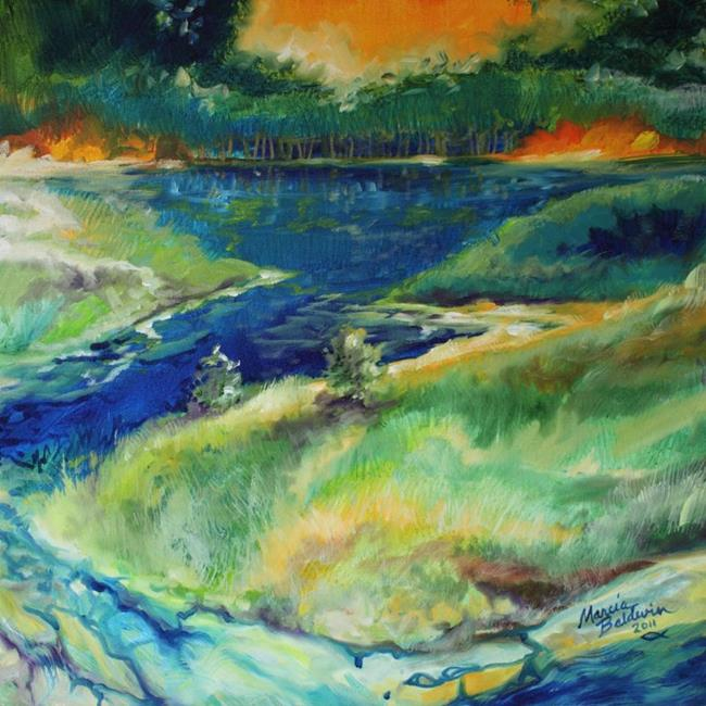 Art: RIVER RUN by Artist Marcia Baldwin