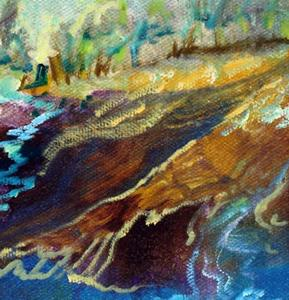 Detail Image for art ABSTRACT LANDSCAPE RIVER RUN II