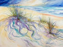 Art: SEAGRASS ABSTRACT PLEIN AIRE GULF SHORES by Artist Marcia Baldwin