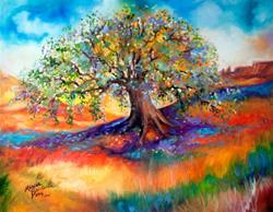 Art: OLD OAK TREE SOUTHWEST 2014 by Artist Marcia Baldwin