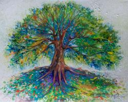 Art: TREE of LIFE HAPPY by Artist Marcia Baldwin
