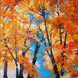 Art: Treetops Against the Sun by Artist Marcia Baldwin