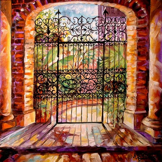 Art: A FRENCH QUARTER GATE by Artist Marcia Baldwin