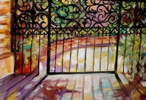 Detail Image for art A FRENCH QUARTER GATE