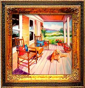 Detail Image for art MY FRONT PORCH POOCH