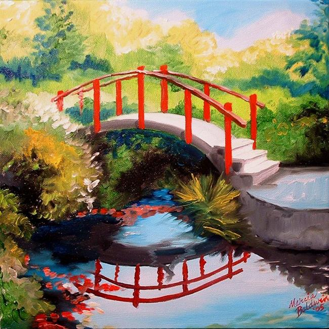 Art: The Red Bridge by Artist Marcia Baldwin