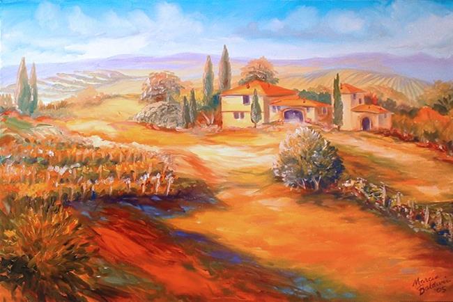 Art: A Tuscany Vineyard by Artist Marcia Baldwin