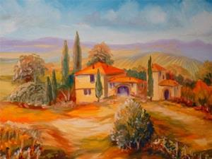 Detail Image for art A Tuscany Vineyard