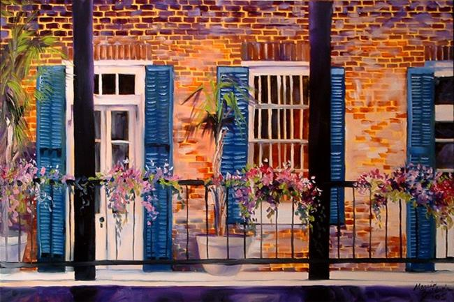 Art: FRENCH QUARTER BALCONY by Artist Marcia Baldwin