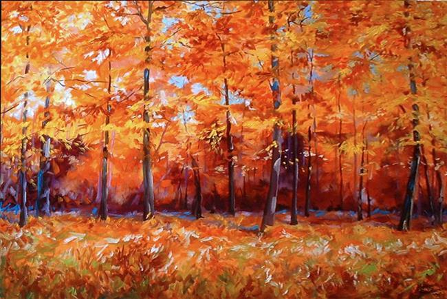 Art: FALL FOREST by Artist Marcia Baldwin