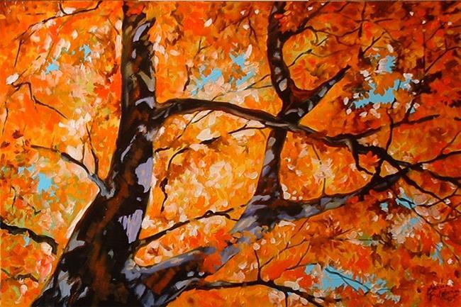 Art: RED TREE II by Artist Marcia Baldwin
