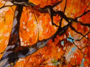 Detail Image for art RED TREE II