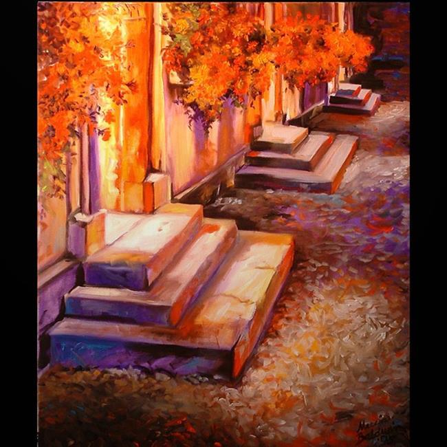 Art: THE STEPS by Artist Marcia Baldwin