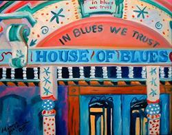 Art: NEW ORLEANS HOUSE OF BLUES by Artist Marcia Baldwin