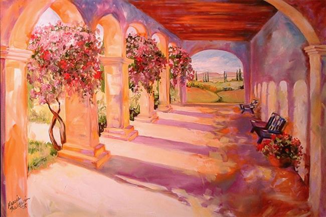 Art: TUSCANY ARCHES by Artist Marcia Baldwin