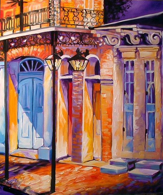 Art: NIGHTFALL IN NEW ORLEANS by Artist Marcia Baldwin