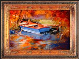 Detail Image for art BLUE ROW BOAT