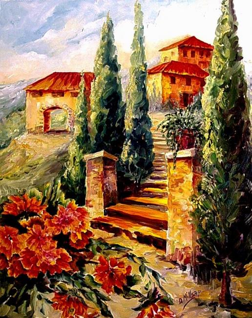 Art: A Dream of Tuscany - SOLD by Artist Diane Millsap