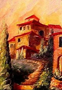 Detail Image for art Sunset in Tuscany -SOLD
