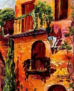 Detail Image for art A Street in Tuscany - SOLD