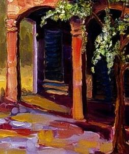Detail Image for art Courtyard in Tuscany - SOLD
