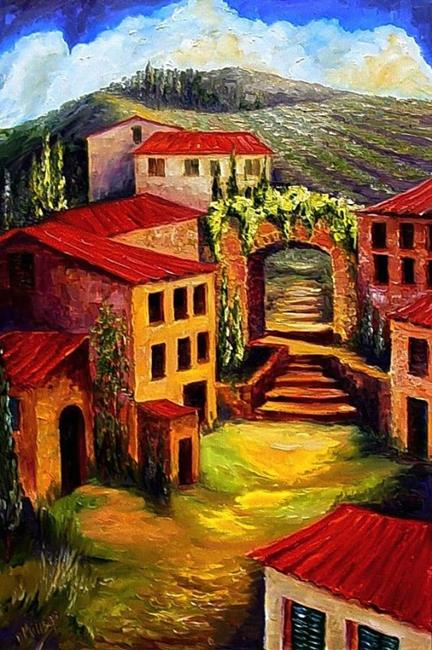 Art Red Roofs In Provence By Artist Diane Millsap
