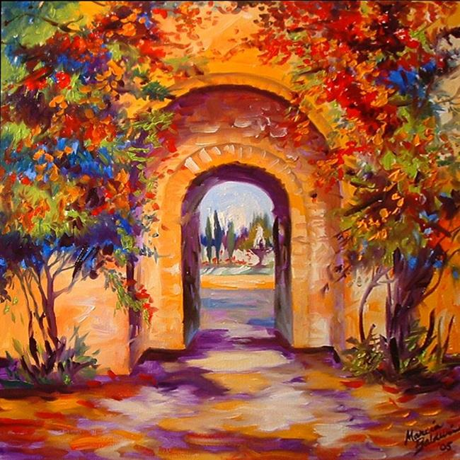 Art: INTO THE TUSCANY GARDEN by Artist Marcia Baldwin
