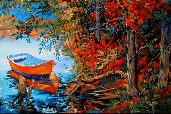 Art: Near The Red Fern by Artist Marcia Baldwin