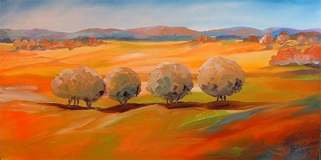 Art: Tuscany Tree Line by Artist Marcia Baldwin