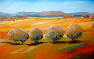 Detail Image for art Tuscany Tree Line