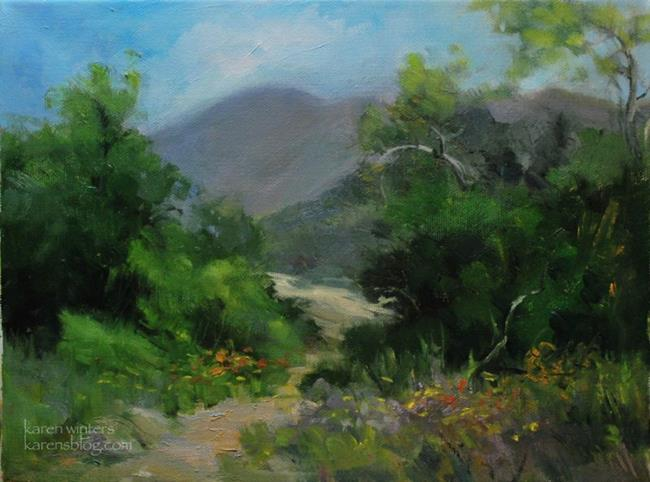 Art: The Canyon Calls - Eaton Canyon, California Landscape Painting SOLD by Artist Karen Winters