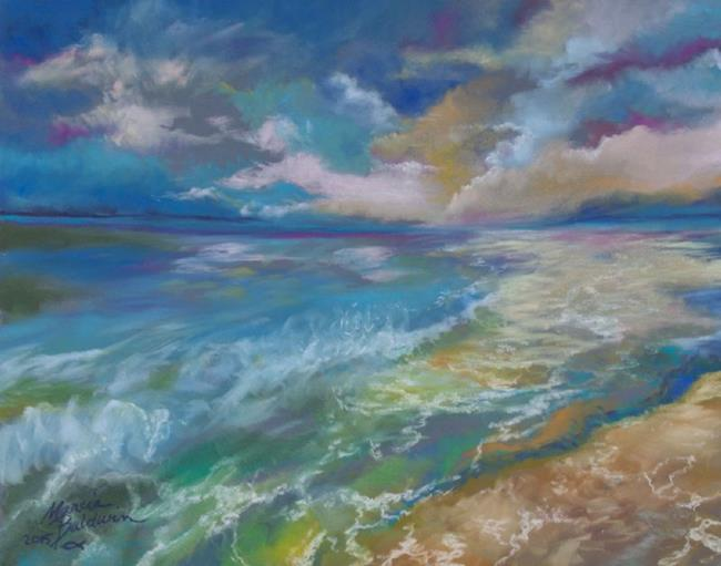 Art: OCEAN and the Setting SUN by Artist Marcia Baldwin