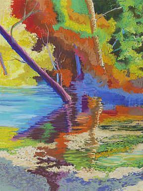Art: Rainbow Forest by Artist Carol Thompson