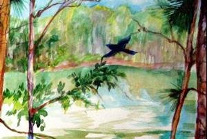 Detail Image for art THE RAVEN at LAKE CLAIBORNE