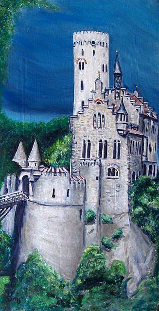 Art: Castle Lichtenstein: A painting by Artist Heather Sims