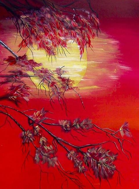 Art: Orange Sunset by Artist Dia Spriggs