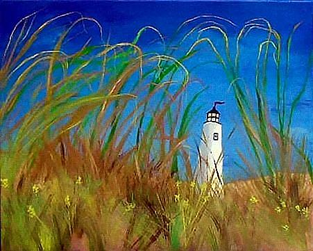Art: Maine Lighthouse by Artist Dia Spriggs