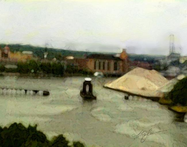 Art: The Port of Green Bay by Artist Alma Lee