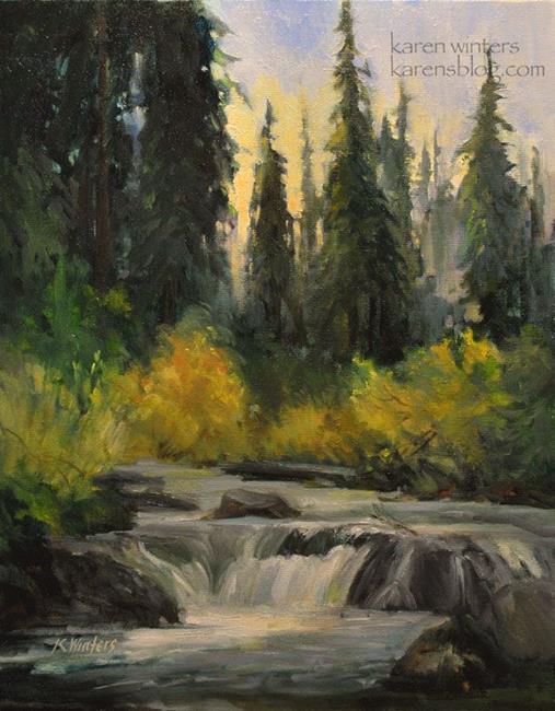 Art: Sierra Seasons - California Sierra Nevada landscape by Karen Winters SOLD by Artist Karen Winters