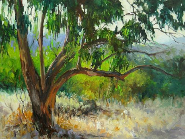 Art: Tower of Strength - Pasadena eucalyptus oil painting- SOLD by Artist Karen Winters