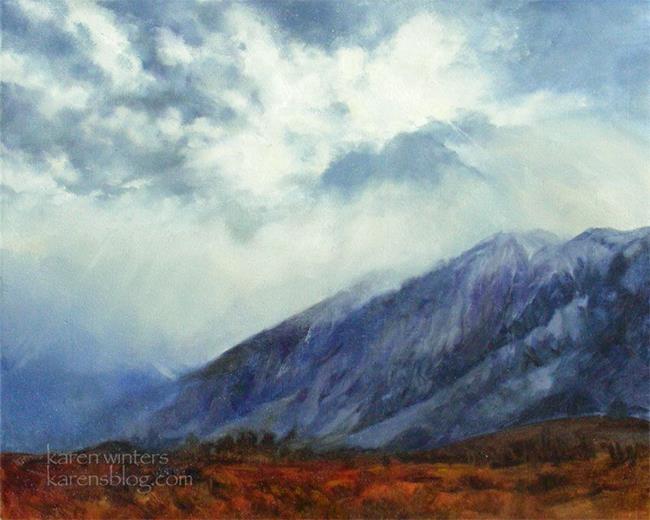 Art: Heaven and Nature Sing - Sierra Nevada oil painting by Karen Winters -SOLD by Artist Karen Winters