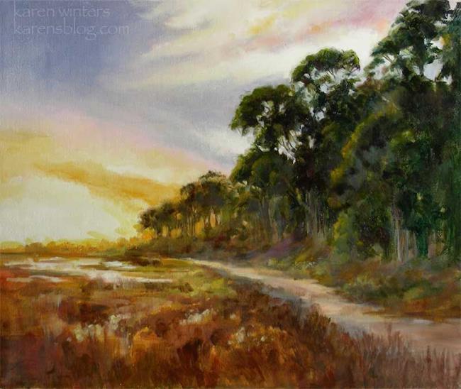 Art: Brighter Tomorrow - Batiquitos Lagoon near Carlsbad California - SOLD by Artist Karen Winters