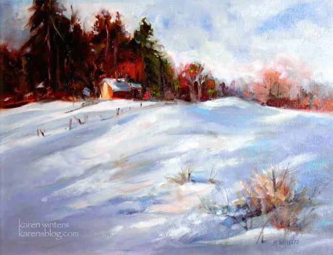 Art: Winter Peace - SOLD by Artist Karen Winters
