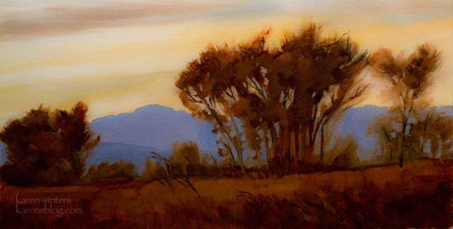 Art: Sierra Daybreak, Owens Valley -  Dawn landscape oil painting SOLD by Artist Karen Winters