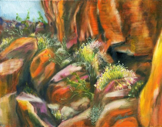 Art: Nevada Rock by Artist Alma Lee