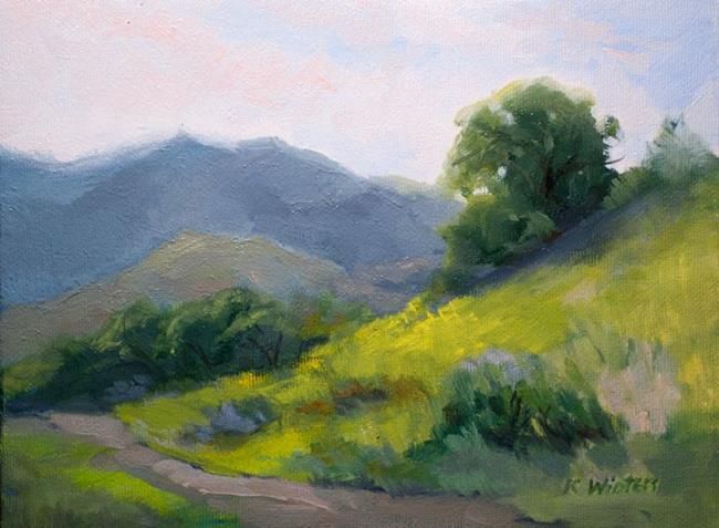 Art: Suddenly it's Spring - California Landscape Oil Painting SOLD by Artist Karen Winters