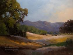 Art: Golden Oak Hillside - California oak landscape oil painting SOLD by Artist Karen Winters