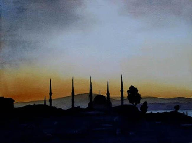 Art: Dawning Istanbul SOLD by Artist Kathy Haney