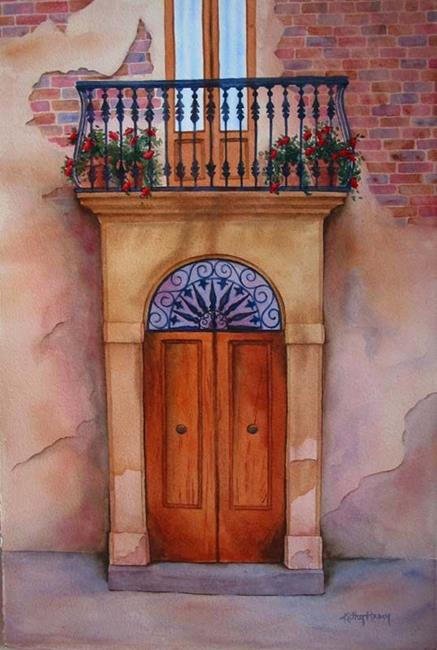 Art Tuscan Door SOLD by Artist Kathy Haney & Tuscan Door SOLD - by Kathy Haney from Paintings Watermedia Art Gallery